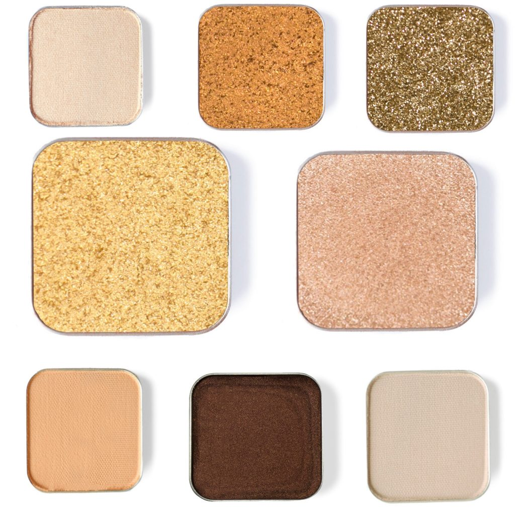 Summer Makeup Must-Haves by popular beauty blogger and top artist with Maskcara Beauty, Kelly Snider; image of Maskcara Beauty Eyeshadows from the Golden Coast Collection.
