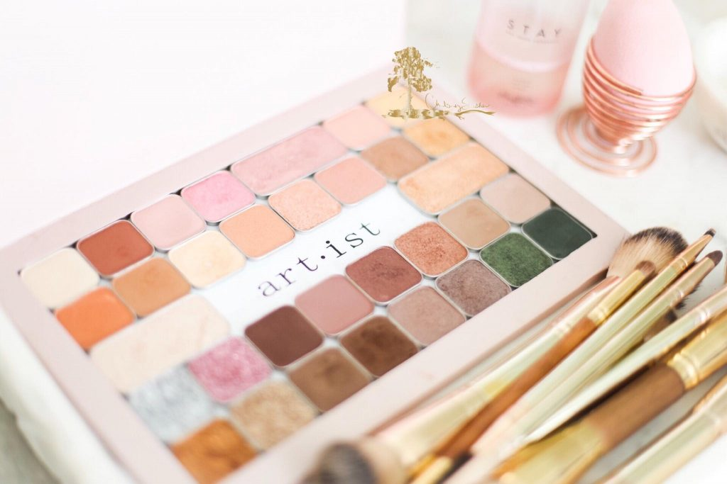 Maskcara Beauty Artist Palette, filled with Maskcara's customizable Eyeshadows.