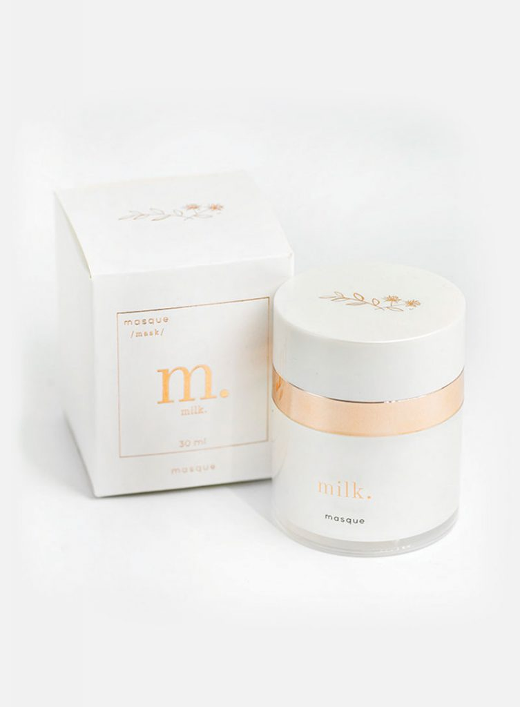 Maskcara Beauty Milk Skincare Line featured by top US beauty blogger and Maskcara Artist, Kelly Snider: Milk masque