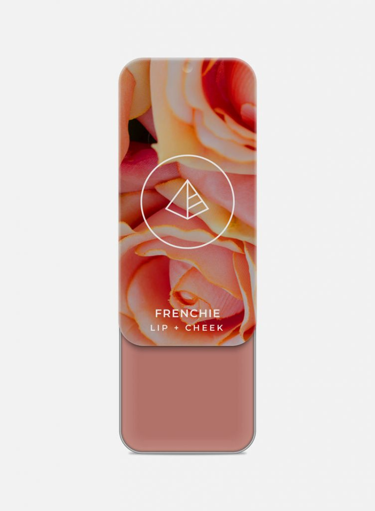 Stay at Home Makeup by popular Utah beauty blogger and independent Maskcara Beauty artist, Kelly Snider: image of a Maskcara Lip+Cheek Frenchie tin.