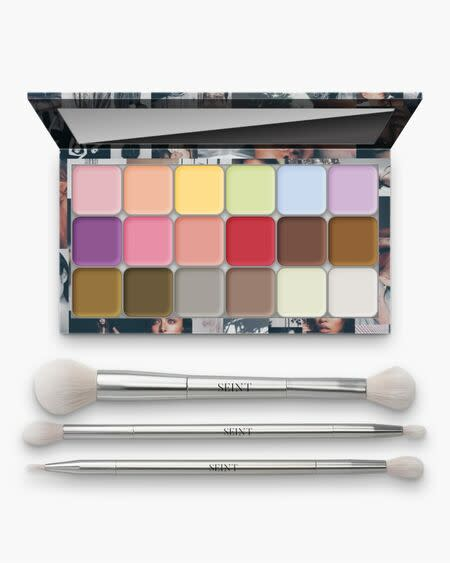 Seint Demi Colour Angel Edit I palette with 18 singles, mood palette18, and 3 champagne gold brushes.