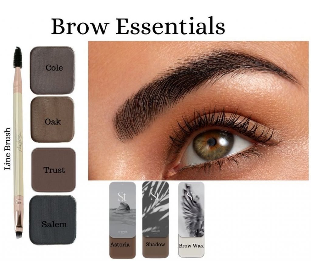 Use the Line Brush to fill in your brows and apply Seint Brow Wax for perfectly manicured eyebrows. www.kellysnider.com