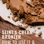 Seint's Cream Bronzer: How to use it and why I love it. www.kellysnider.com