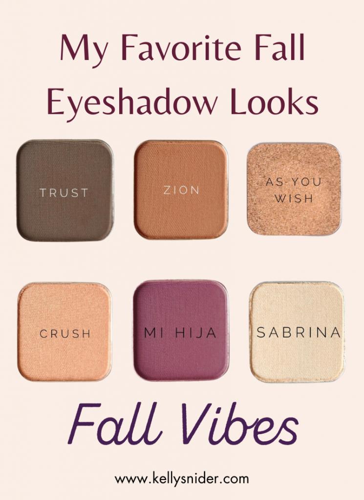 My Favorite Fall Eyeshadow Looks-- Fall Vibes Eyeshadow Palette www.kellysnider.com